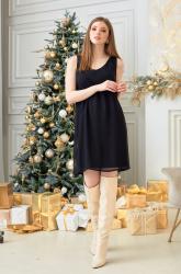 Платье черное шифоновое