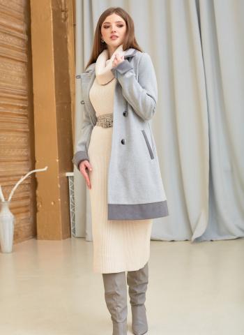 Пальто весеннее без подкладки с манжетами