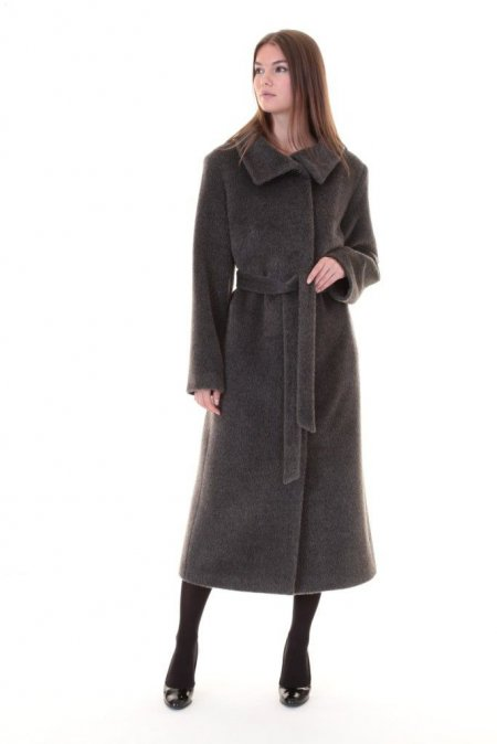 Пальто классика серое